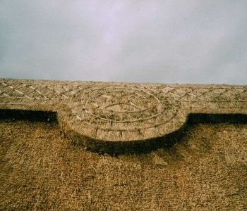 Ridge detail, Honeybrook Farm, nr Wimborne
