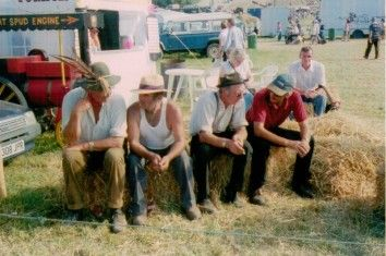 Taking a break - old boys yarning at Great Dorset Steam Fair
