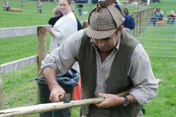 Hurdle Making at the Autumn Show at The Weald & Downland Museum, West Sussex