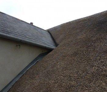 West Lulworth, thatch against slate detail)